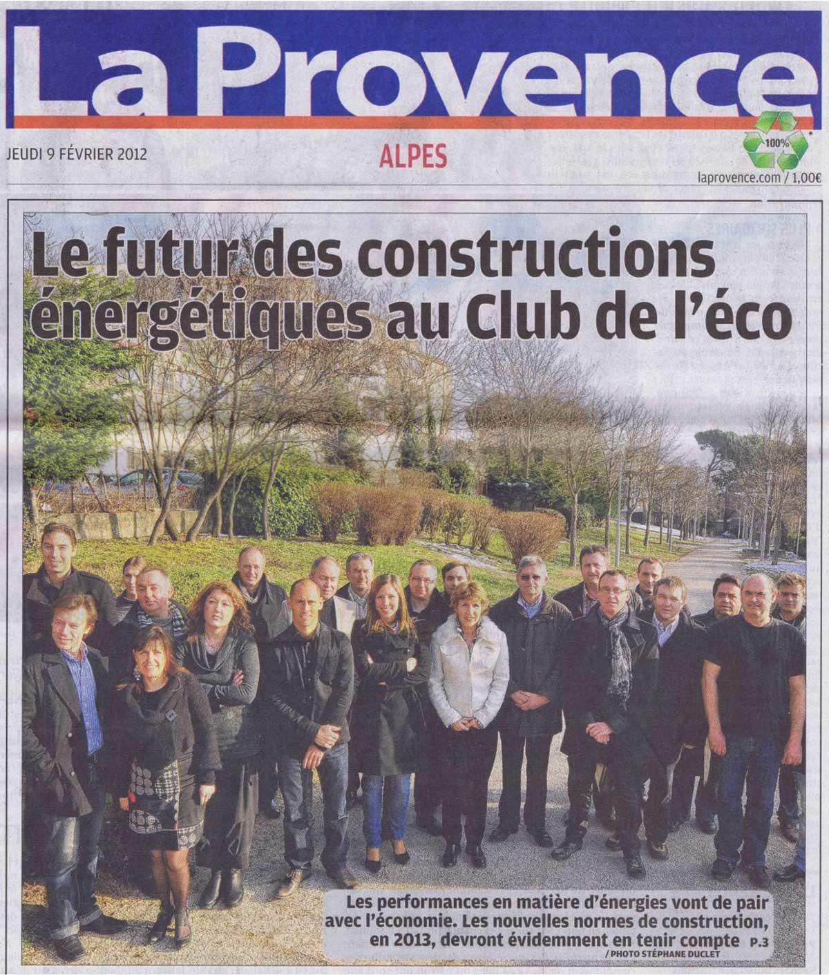 La Provence du 09/02/2012