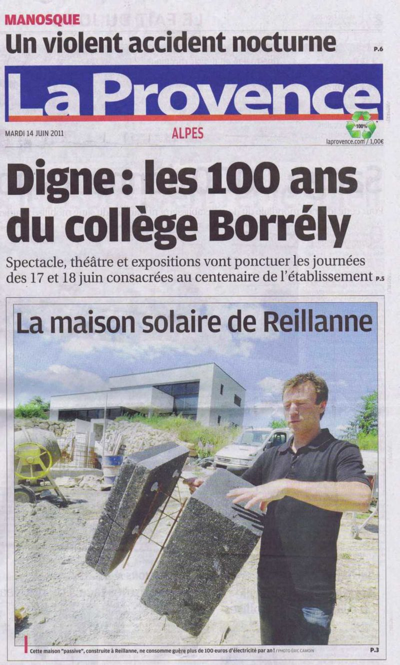 La Provence du 14/06/2011